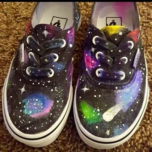Vans Shoes - Vans Authentic glitter custom made girls shoes NIB
